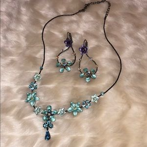 Blue Necklace & earring set